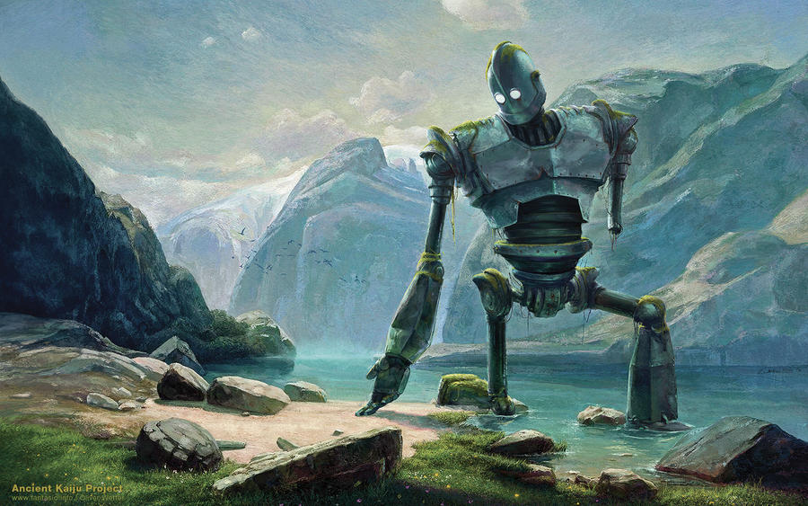 Abandoned Iron Giant At Lake In Swiss Mountains