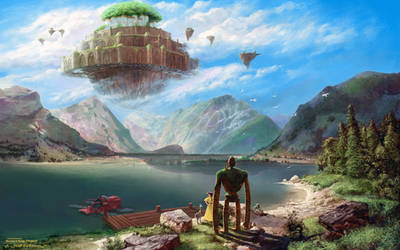 Laputa: Castle In The Sky Over Achensee - WP