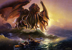 Cthulhu and the ninth wave by fantasio