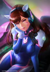 Hana d.va Song - Overwatch fanart by fantasio