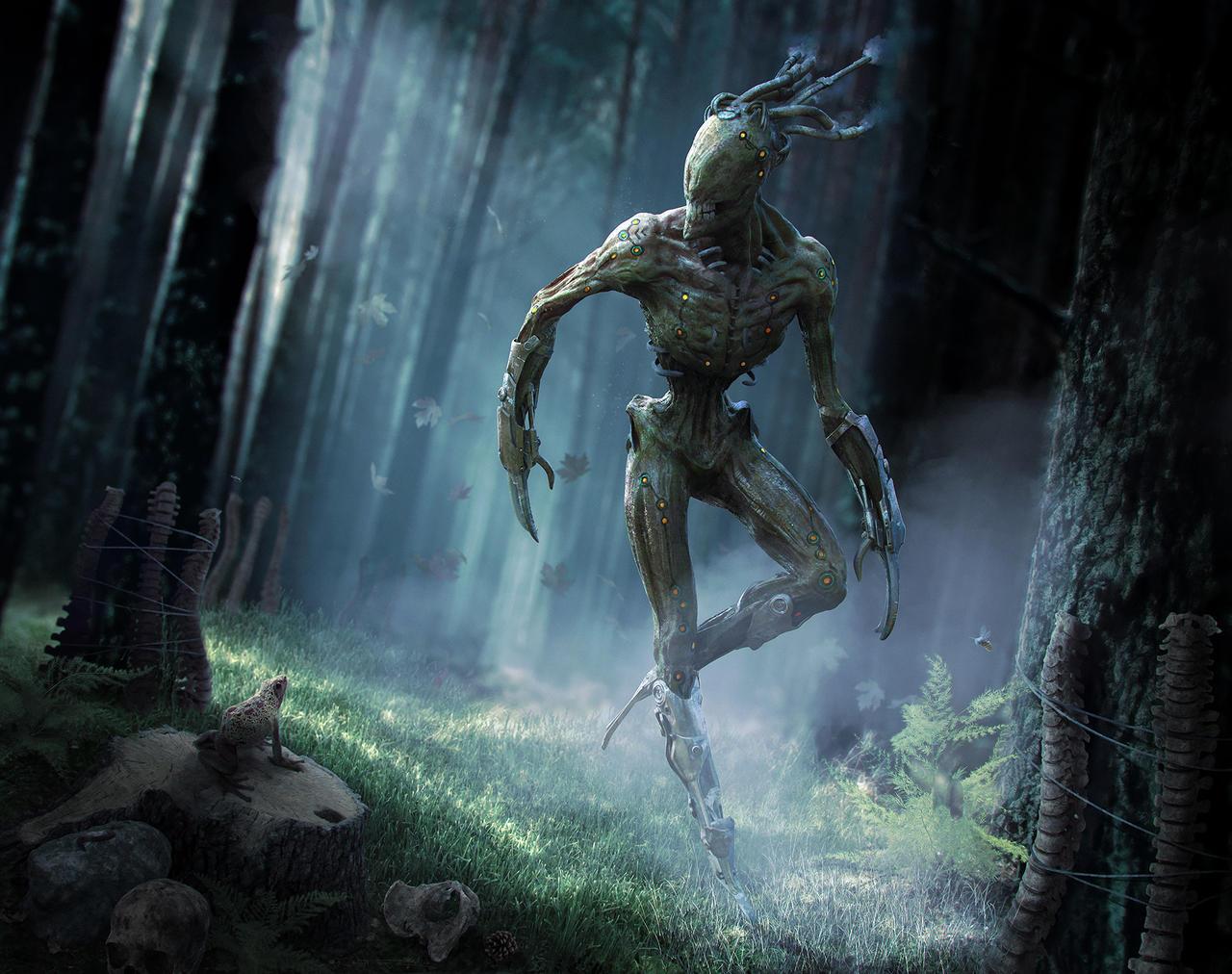 The Menk: Creepy Creature Design by fantasio