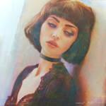 Dreamy Impressionism Portrait Study