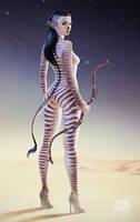 Cebra Girl: Hunter or Prey? by fantasio