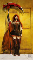 Ruby Rose - after J.W. Godward by fantasio