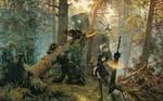 Robots in a Pine forest - NieR+Shishkin Wallpaper