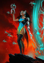 Symmetra after Dan Dos Santos by fantasio