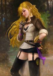 Yang Xiao Long (Hunter Outfit) after Bouguereau by fantasio