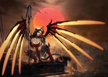 Devil (Skin) Mercy after Royo by fantasio