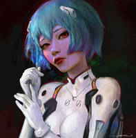 Rei Ayanami - Portrait Study