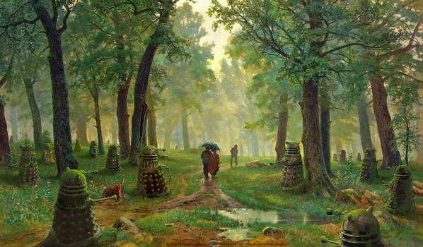 Forest of Daleks - after Shishkin Wallpaper