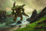 Stranded Warlord Titan - Wallpaper