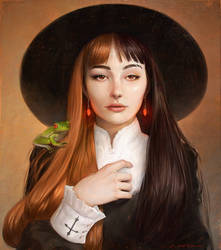 Girl with the Red Earrings by fantasio