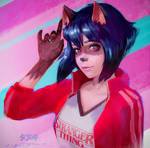 Stranger Thing: Tanuki Girl by fantasio