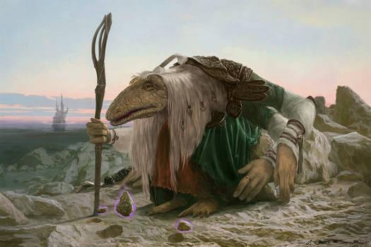 Mystic in the desert after Kramskoi