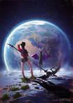 Luna and Nova - Garden of the Galaxy 3D OC Design
