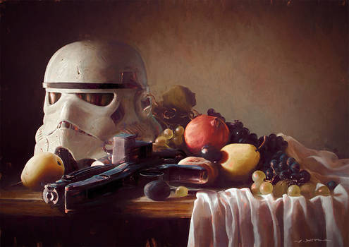 Trooper-Helmet on Still Life
