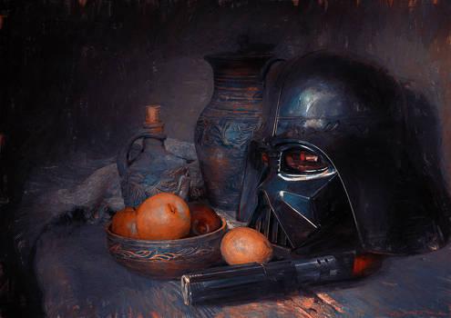 VANITAS - Vader Helmet on Still Life