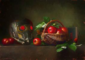 Star-Lord Helmet on Still-Life