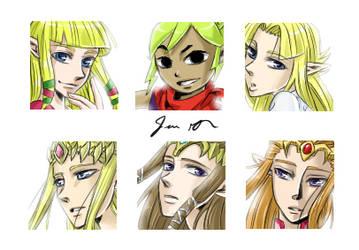Zelda Icon Set by Animebabe161