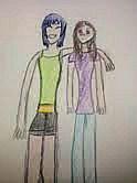 A cute Yuri Couple by YukiUchiha21