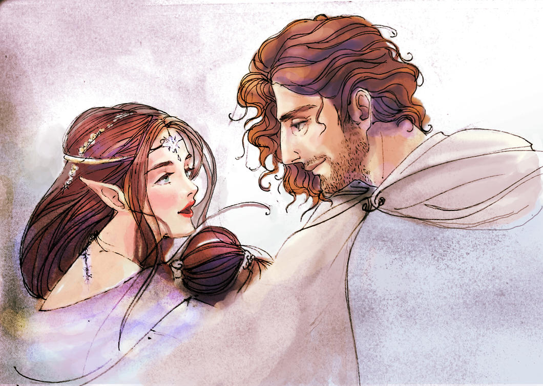 Aragon And Arwen by duhi