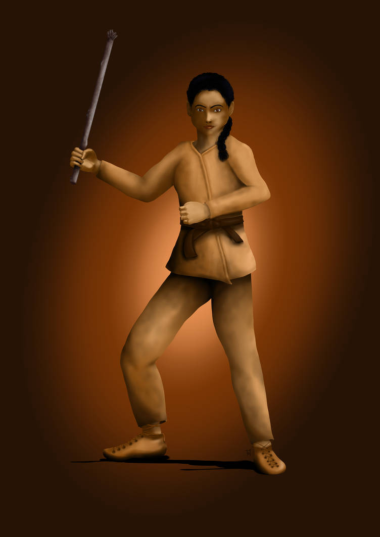 DnD female monk