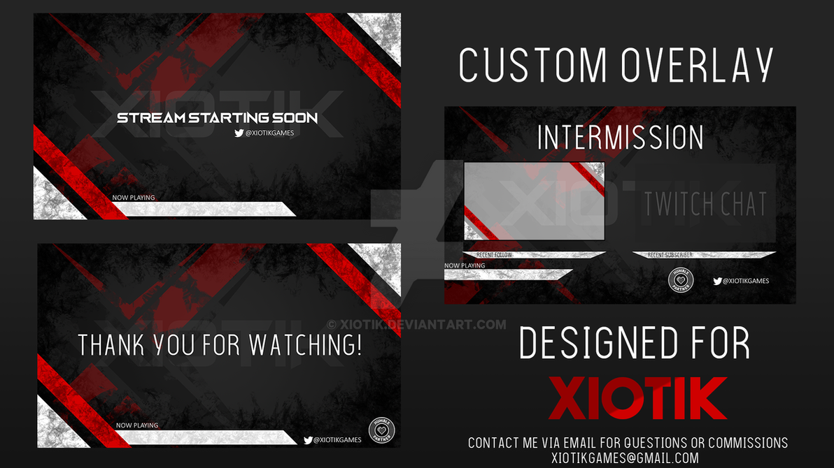 Custom Twitch Overlay - Xiotik 2 by Xiotik