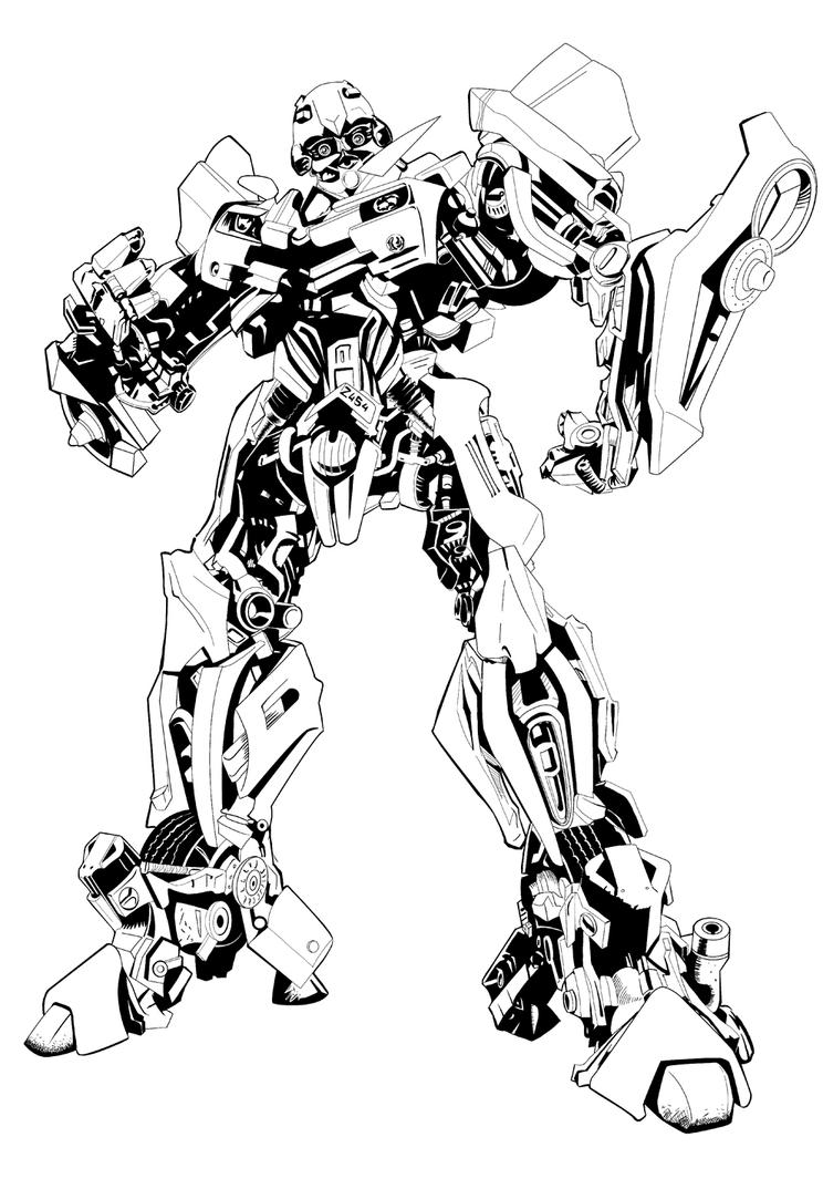 Bumblebee inked on painter x by superman1511Bumblebee Coloring Page