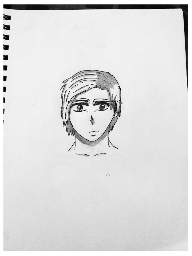 Anime male face: practice# 3 by JuviaIsBest