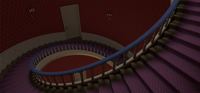 Arendelle Castle Stairs Study