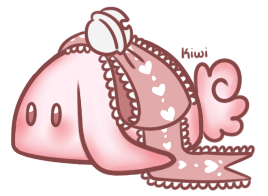 Pink Bow Bunbon by Kiwicide