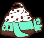 Mint Chocolate Chip Cupcake Bunbon