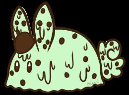 Mint Chocolate Chip Ice Cream Bunbon by Kiwicide