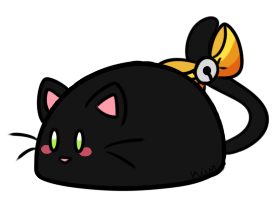 [CLOSED] Black Cat Brownie Bunbon by Kiwicide