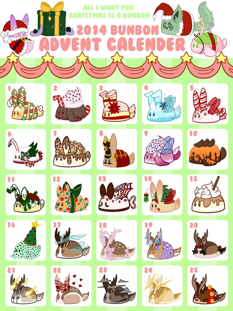 Art Advent Calendar : Bunbon advent calendar by kiwicide on deviantart