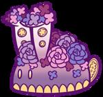 Royal Purple Wedding Cake Bunbon