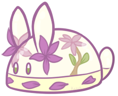 Lavender Gelatin Bunbon by Kiwicide