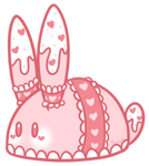 Strawberry Lace Cake Bunbon