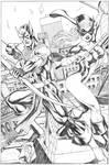 Hawkeye And Mockingbird commission Pencil Pvale