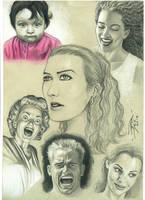 Estudos De Faces em papel colorido by petervale