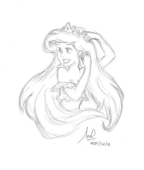 How To Draw Princess Ariel Disney Princess Ariel Drawings