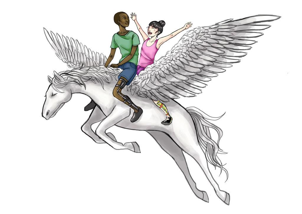 Pegasus Wings of Friendship by Gliophorus