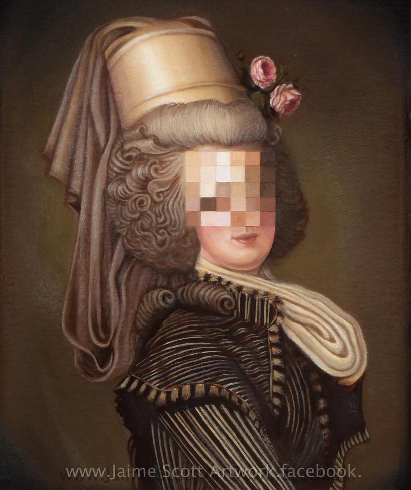 Pixelated Portrait (re-edit) by Gliophorus
