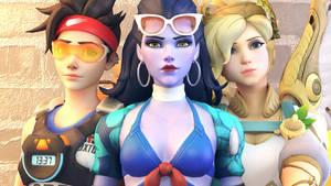 Overwatch-Tracer,Widowmaker and Mercy