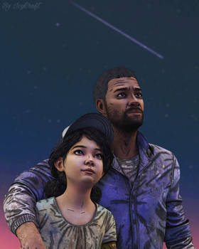 The Walking Dead Final Season Lee and Clementine