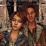 The Walking Dead Final Season-Louis and Clementine by ICYCROFT