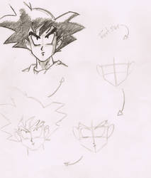 How to draw Son Goku by BrunovicArt