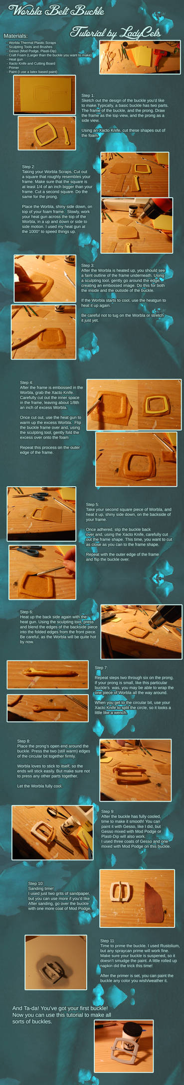 Worbla Belt Buckle Tutorial by DragonLadyCels