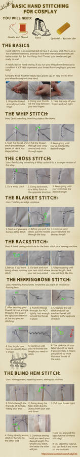Hand stitching for Cosplay Tutorial