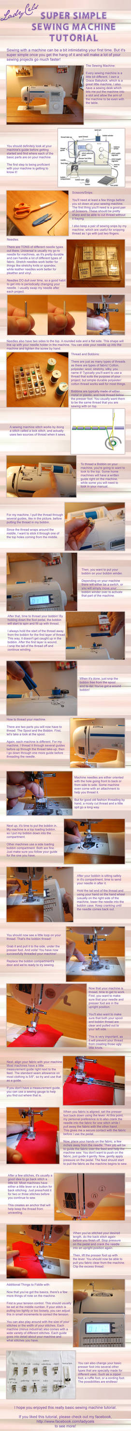 Super Simple Sewing Machine Tutorial